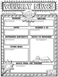 Free Superhero Editable Newsletter Template Classroom