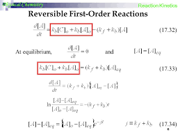 reversible first order reactions