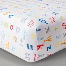 alphabet crib sheet circo woven fitted crib sheet alphabet target baby