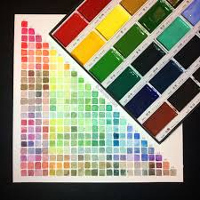 Gansai Tambi Color Chart Watercolor Swatches Colors Chart Using Kuretake Gansai