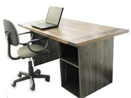 office table for home. Dark Wooden Rustic Office Desk With Chair Table For Home