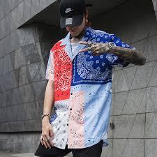 Mens Designer Summer Shirts Summer Streetwear Blouse Men Retro Vintage Shirt Men
