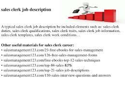 sales clerk duties