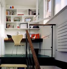 office for small spaces. View In Gallery Staircase Landing Transformed Into An Inviting Home Office For Small Spaces