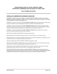 Memo To Board Of Directors Board Resolution Approving Compensation for Board of Directors 48