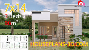 Home Design With Roof Terrace House Design 7x14 With 3 Bedrooms Terrace Roof