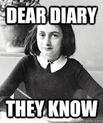 Paranoid Anne Frank memes | quickmeme via Relatably.com