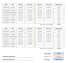 Bi Weekly Time Sheet Free Timesheet Templates In Excel Pdf Word Formats Weekly