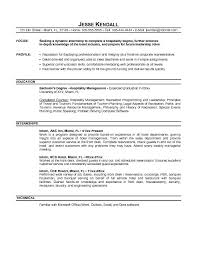 Objective In Internship Resume Internship Resume Objective The Best Resume 6