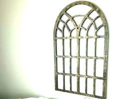 white rustic arch wall decor metal filigree decorative window corrugated arched whitewash wood wooden elegant images
