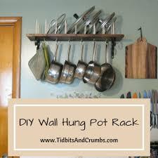wall mounted pot rack