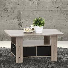 furinno home living dark brown and black built in storage coffee table 11158dbr bk the home depot