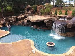 Pool Designs With Rock Slides Backyard Oasis Pools Custom Pool Faux Rock Grotto Slide