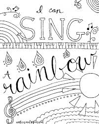 Relax Color Free Printable Musical Coloring Page Adult