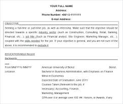 Objective For Resume For Bank Job Free Resume Objective Template Doc
