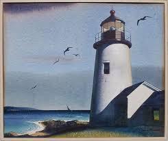 sandor bernath lighthouse painting edward hopper protege eastport maine artist