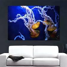 jellyfish wall art compass jellyfish canvas large art jellyfish wall art uk