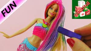 Costume Da Bagno Sirenetta : Trasformazione completa per barbie sirena capelli color