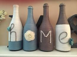 Wine Bottles Decoration Ideas Glass Bottle Decor Yarn Wrapped Wine Bottle Made By Me Small Glass 57