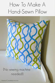 How To Sew A Pillow With Sewing Machine