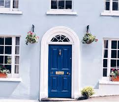 Light Blue Front Door Blue And White Monday Console Styling Blue First
