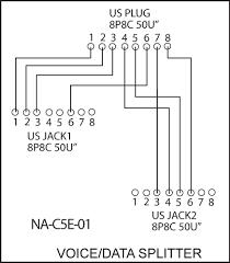 rj45 splitter wiring diagram rj45 image wiring diagram pk4542 rj45 data voice line splitter 1x rj45 plug to 2x rj45 on rj45 splitter wiring