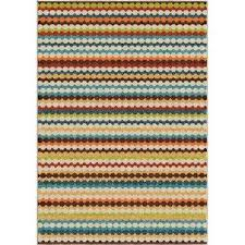 jumping jack multi striped 8 ft x 11 ft indoor outdoor area rug