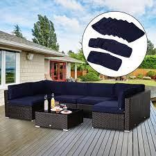 outsunny outdoor patio rattan sofa set