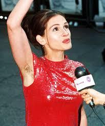 Julia roberts hairy underarm