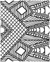 Small Picture Awesome Geometric Mosaic Coloring Page Download Print Online