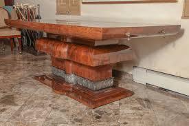 burled walnut wood dining table