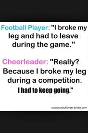 Cheer Vs Sports Quotes. QuotesGram via Relatably.com