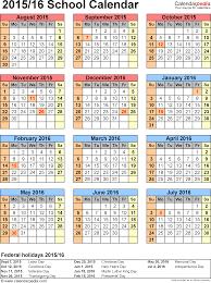 Calendar Planner Printable 2015 Template 6 School Calendar 2015 16 For Word Portrait