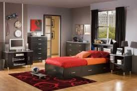 Bed With Tv Built In Elegant Boy Bedroom Ideas With Grey Cabinet Over Bed And Orange
