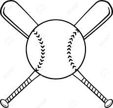 Softball Ball And Bat Clipart Clipartfox