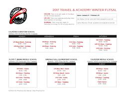 Travel Schedule Winter 2017 Travel Schedule