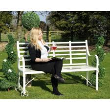 wrought iron garden furniture. The Brierley Wrought Iron Garden Bench Furniture