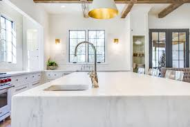 marble waterfall countertops mountain brook surface one