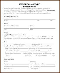 Room Rental Contract Room Rental Agreement Template Free Rent Form Contract