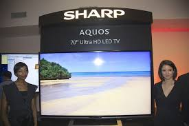 sharp 70 inch tv 4k. sharp aquos ultra hd led tv at the unveiling in new york 70 inch tv 4k