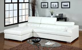 white leather sectional macys tufted