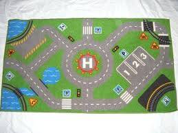 play rug with roads kids street city town mat childrens