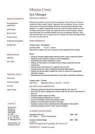 ... Prissy Design Quality Inspector Resume 9 QA Manager Resume Assurance  Safety CV Job Description ...