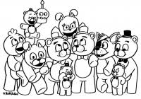 Fnaf Coloring Pages For Kids With Fnaf Coloring Pages Free Printable