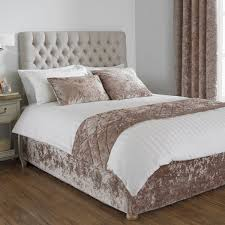 paoletti verona crushed velvet bed wrap oyster super king linens limited