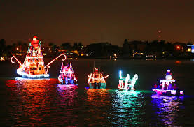 SCOTT KEELER   TIMES Boats light up the night, Friday, December 5, 2014