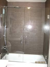 swinging glass shower door latest glass shower doors over tub with double swing shower door over