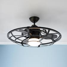 stylish ceiling fan for garage with lights