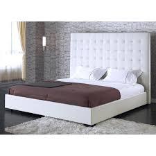 tufted platform bed king white leather platform bed with tufted headboard s white king platform bed