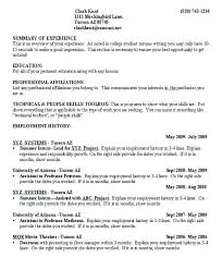College Student Resume Objectives Resume Examples For Students